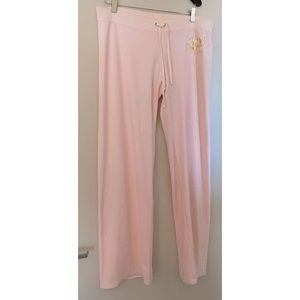 NWT Juicy Couture | Blush Pink Velour Flare Pant L